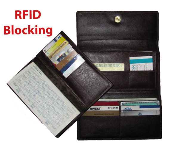 Rfid blocking wallets and purses