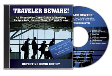 Traveler Beware Audio Book by Detective Kevin Coffey, Travel Safety expert