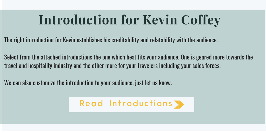 Introduction for Keynote Speaker Kevin Coffey